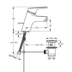 Ideal Standard Cerasprint смесител за биде 2