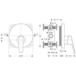 Ideal Standard Vito вграден смесител за душ 2