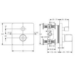 Ideal Standard CeraTherm 200 New вграден термостат за вана/душ 2
