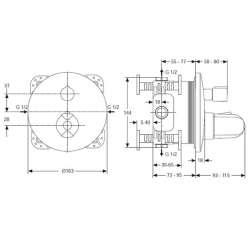 Ideal Standard CeraTherm 100 New вграден термостат за душ 2