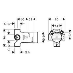 Hansgrohe Basic set тяло за вграждане 4-пътен разпределител 2