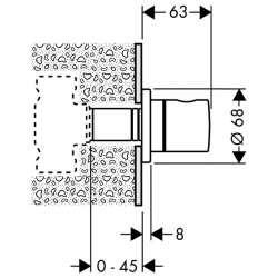 Hansgrohe S спирателен кран вграден 2