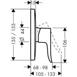 Hansgrohe Metris вграден за душ 2