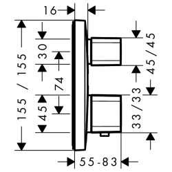 Hansgrohe Ecostat E вграден термостат за вана/душ 2