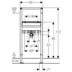 Geberit Duofix структура за мивка 112 см 2