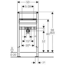 Geberit Duofix структура за мивка 82–98 см 2