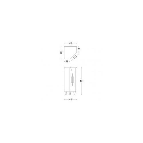 Ъглова колона Биляна 40x40см MDF/PVC 2