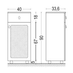 Долна колона Симона 40x33.6см MDF/PVC 2