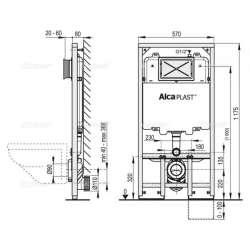 Структура за вграждане за WC Alcaplast Slim 8см 2