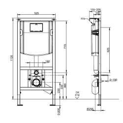 Villeroy & Boch ViConnect структура за вграждане за WC 2