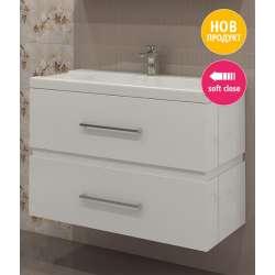 Triano Step Долен шкаф с мивка с плавно затваряне 90см