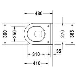Duravit Starck 3 висяща WC с капак с плавно падане 48см 2