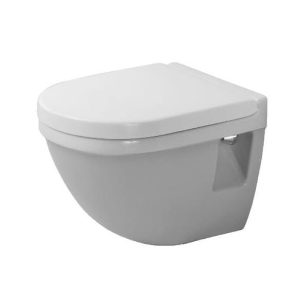 Duravit Starck 3 висяща WC с биде и капак с плавно падане 48см 2202390079+0063890000