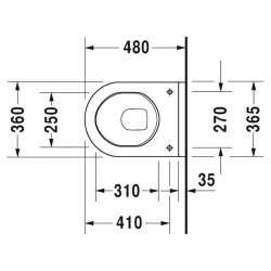 Duravit Starck 3 висяща WC с биде и капак с плавно падане 48см 2