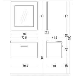 Огледало Anna с PVC рамка 70см 2
