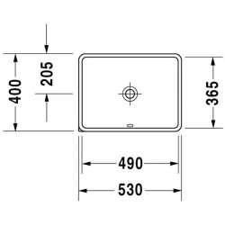 Duravit Starck 3 мивка за вграждане под плот 2