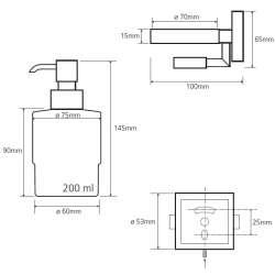 Bemeta Beta диспенсър за сапун стенен с магнитен държач за сапун 2