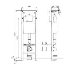 Промоция WISA Структура за окачена WC чиния + бутон 2