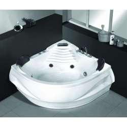 Ъглова вана с хидромасаж и хромотерапия 140х140см