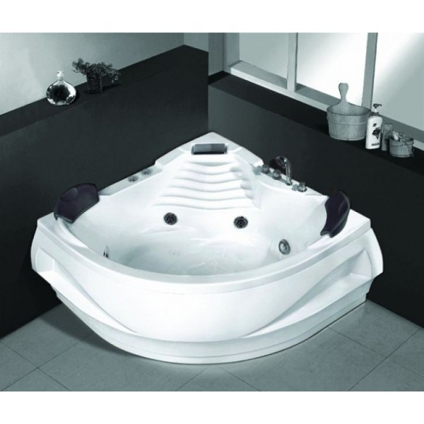Ъглова вана с хидромасаж и хромотерапия 140х140см MY 1550