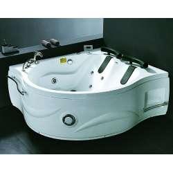 Двойна ъглова вана с хидро и аеромаса MY 1603 169x140см