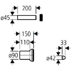 Свързващ комплект тръби за вградени казанчета Grohe 2
