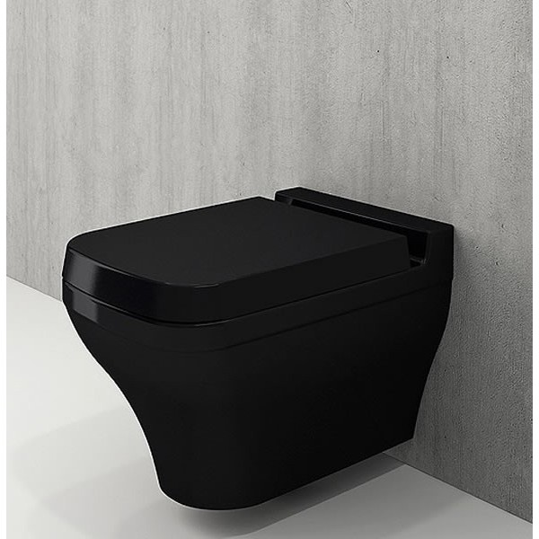 Bocchi Scala Arch конзолна WC черен гланц напълно скрит монтаж 1080 005 0129 + A0322 005