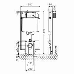 Schell Montus C90 плитка/тънка структура за вграждане за WC 2