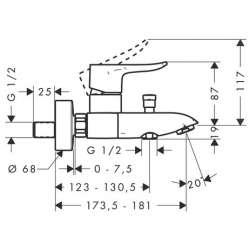 Hansgrohe Metris 110 за мивка с изпразнител 2
