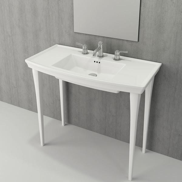 Bocchi Lavita 100см бял гланц мивка с плот с 1 пробит отвор за смесител 1168 001 0126