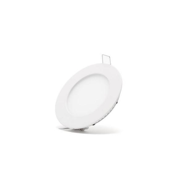 LED кръгъл панел за вграждане 6W 114mm с адаптер O-P0100-NW