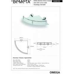 Ъглова етажерка единична със стъкло Omega 2