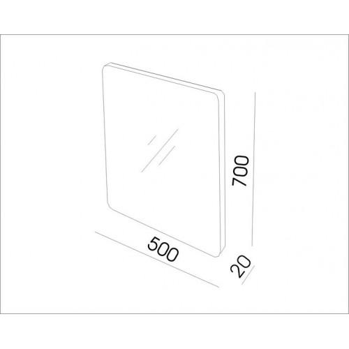 Огледало с заоблени ръбове, PVC рамка 55см 2