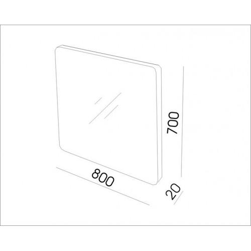 Огледало с заоблени ръбове, PVC рамка 80см 1