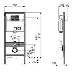 TECEbase промо комплект структура за WC с бял бутон 2