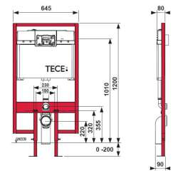 TECE profil 8 см тънка структура за WC 2