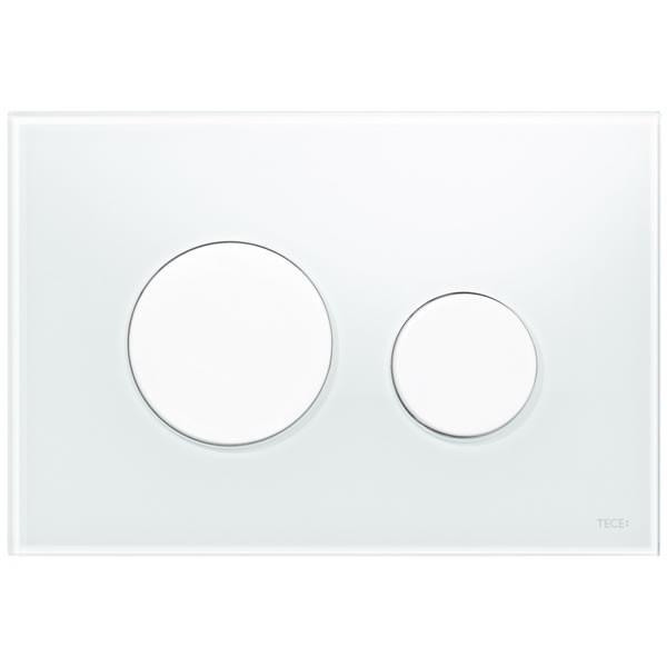 TECE loop бял стъклен бутон за WC 9240650
