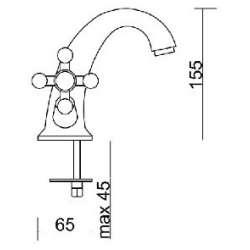 Ponsi Giglio Смесител за мивка с ретро визия 2