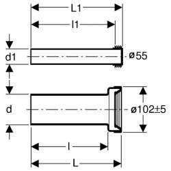 Geberit свързващ комплект за конзолна WC 26см 2