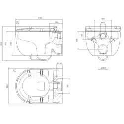 Bocchi Hammock S Rimless конзолна WC с вградено биде 2