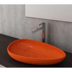 Bocchi Etna 58см за монтаж върху плот орнажев гланц без пробит отвор за смесител 1114 012 0125