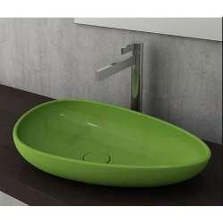 Bocchi Etna 58см за монтаж върху плот зелен гланц без пробит отвор за смесител 1114 022 0125