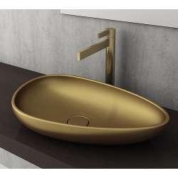 Bocchi Etna 58см за монтаж върху плот златно мат без пробит отвор за смесител