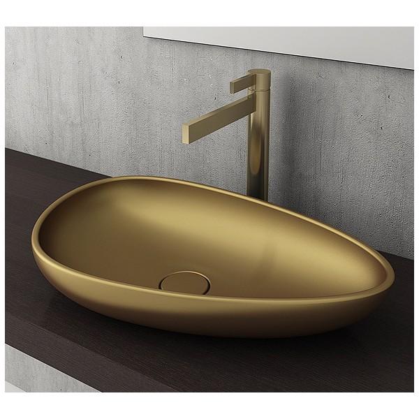 Bocchi Etna 58см за монтаж върху плот златно мат без пробит отвор за смесител 1114 403 0125