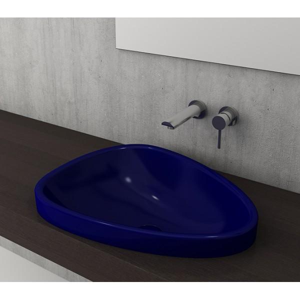 Bocchi Etna 58см за полувграждане в плот син сапфир гланц без пробит отвор за смесител 1112 010 0125