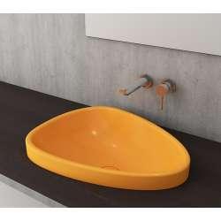 Bocchi Etna 58см за полувграждане в плот мандарина гланц без пробит отвор за смесител 1112 021 0125