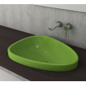 Bocchi Etna 58см за полувграждане в плот зелен гланц без пробит отвор за смесител