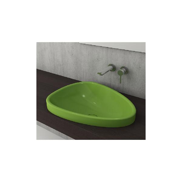 Bocchi Etna 58см за полувграждане в плот зелен гланц без пробит отвор за смесител 1112 022 0125