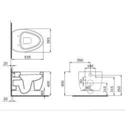 Bocchi Etna конзолна WC бял мат 2