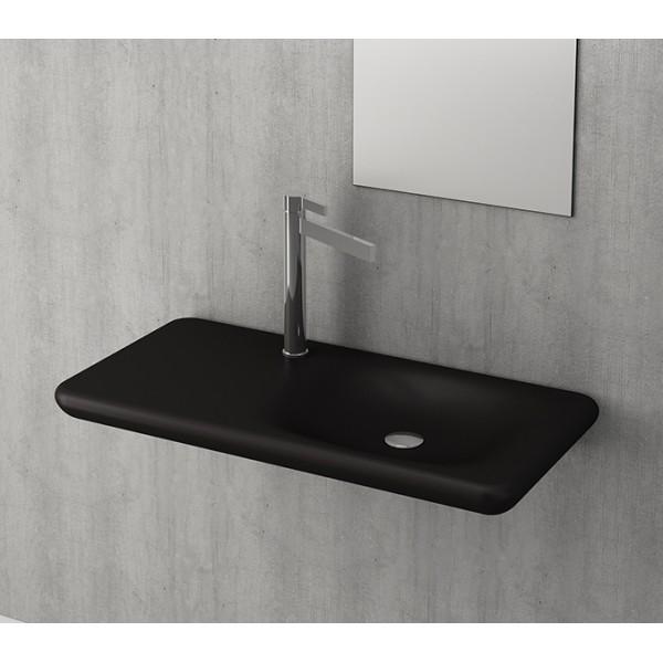 Bocchi Fenice 900мм черен мат мивка с плот без пробит отвор за смесител 1165 004 0125